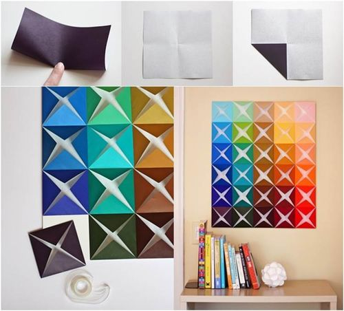 تزیین اتاق با اوریگامی