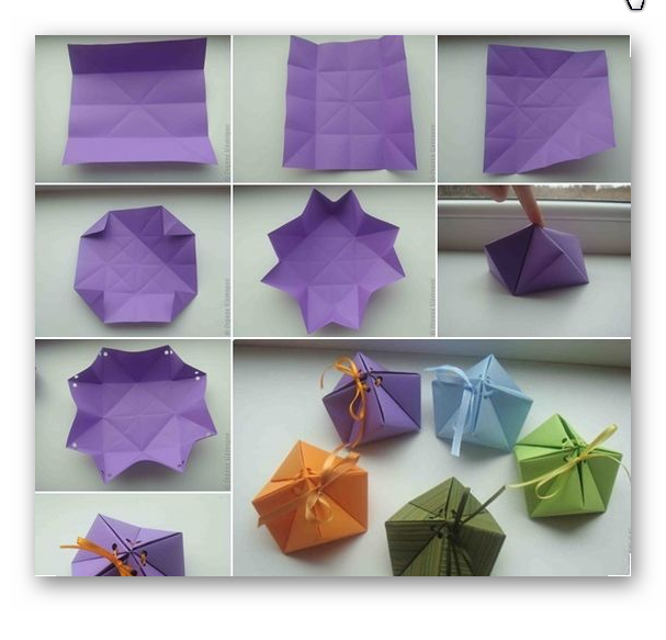 اوریگامی جعبه بسیار زیبا برای هدیه