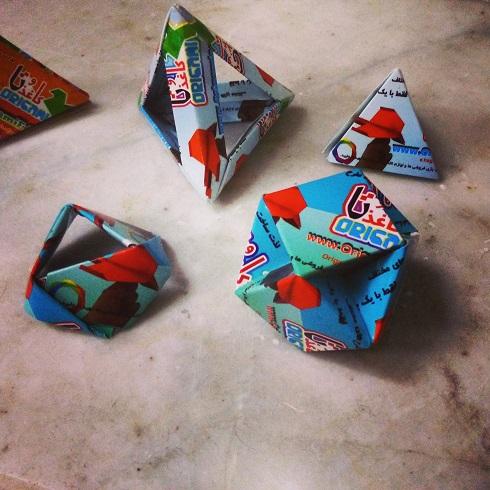 origami کاغذ و تا با کارت ویزیت 01